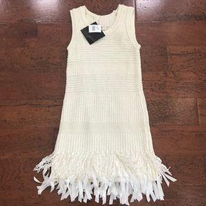 Dresses & Skirts - Maginn cream sleeveless sweater dress